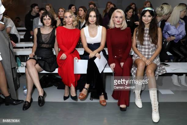 Sam Rollinson Joanna Vanderham Heida Reed Grace Chatto and Doina Cioban attend the Antonio Berardi show during London Fashion Week September 2017 on...