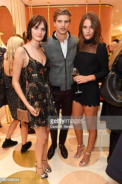 Sam Rollinson Toby HuntingtonWhiteley and Charlotte Wiggins attend as RED Valentino celebrates the opening of their first London flagship store...