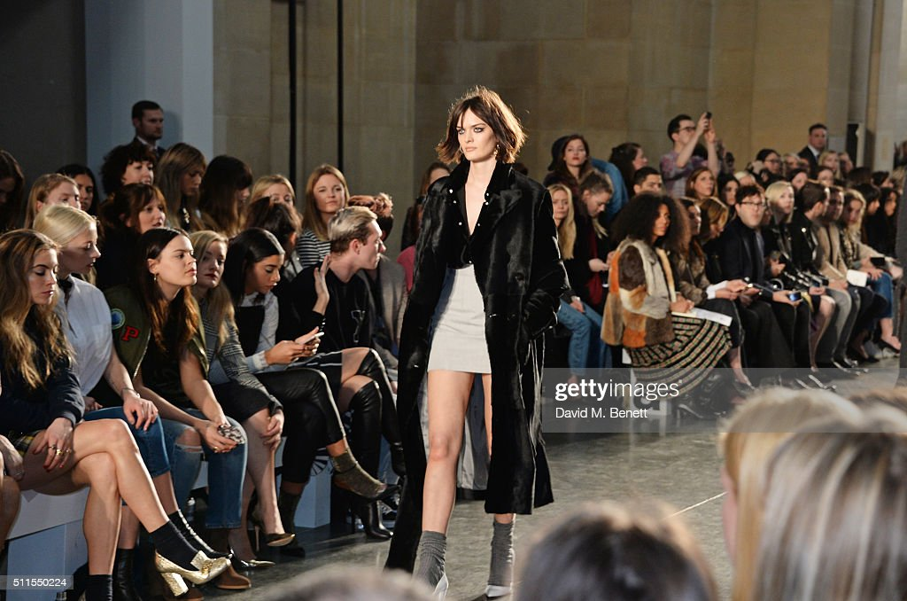 Sam Rollinson walks the runway attends the Topshop Unique at The Tate Britain on February 21, 2016 in London, England.