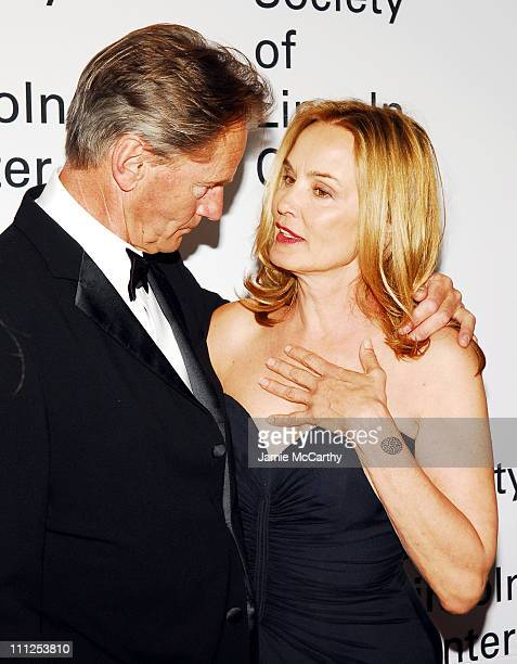 Sam Shepard and Jessica Lange during Jessica Lange Honored by the Film Society of Lincoln Center Green Room at Avery Fisher Hall in New York City New...