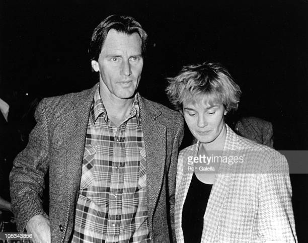 Sam Shepherd and Jessica Lange during Stepping Out To Hail Taxi After Eating at Elaine's at Elaine's Restaurant in New York City New York United...