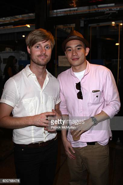 Sam Shipley and Eugene Tong attend The Opening Reception for A NEW HIVE at An Earnest Sewn Co on July 9 2008 in New York City