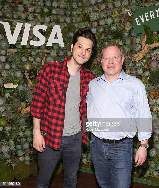 Sam Shrauger SVP of Digital Solutions at Visa joins comedian Ben Schwartz on stage after his performance where they announced Visa's firstever API...