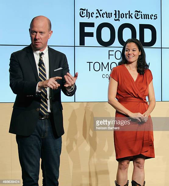 Sam Sifton Food editor The New York Times and Debra Eschmeyer executive director of Let's Move and White House Senior Advisor for Nutrition Policy...