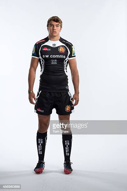 Sam Skinner of Exeter Chiefs poses for a picture during the BT Photo Shoot at Sandy Park on August 26 2014 in Exeter England