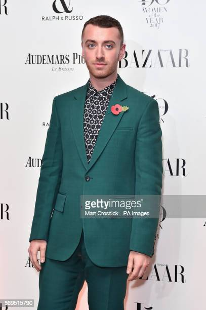 Sam Smith arrives at the Harper's Bazaar Women of the Year Awards at Claridge's Hotel in London