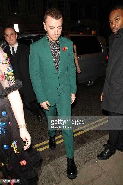 Sam Smith attending the Harper's Bazaar Women of the Year awards at Claridges Hotel on November 2 2017 in London England