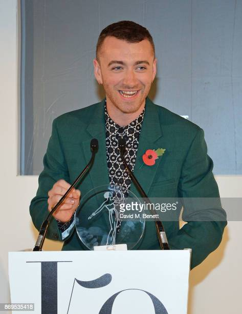 Sam Smith attends Harper's Bazaar Women of the Year Awards 2017 Sponsored by Audemars Piguet on November 2 2017 in London England