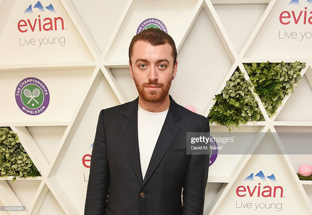 Sam Smith attends the evian Live Young suite during Wimbledon 2016 at the All England Tennis and Croquet Club on June 27, 2016 in London, England.