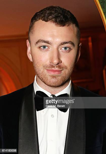 Sam Smith attends the launch of the Annabel's Smoking Jacket by Casely Hayford at Annabel's on October 12 2016 in London England