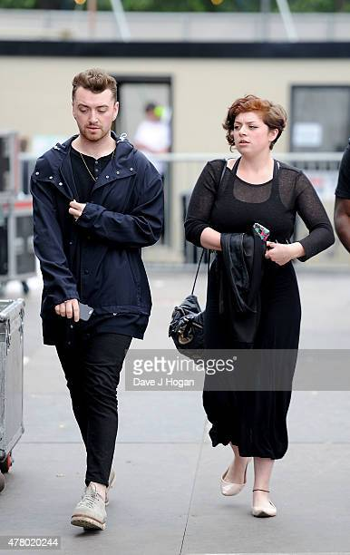 Sam Smith backstage at the British Summer Time 2015 at Hyde Park on June 21 2015 in London England
