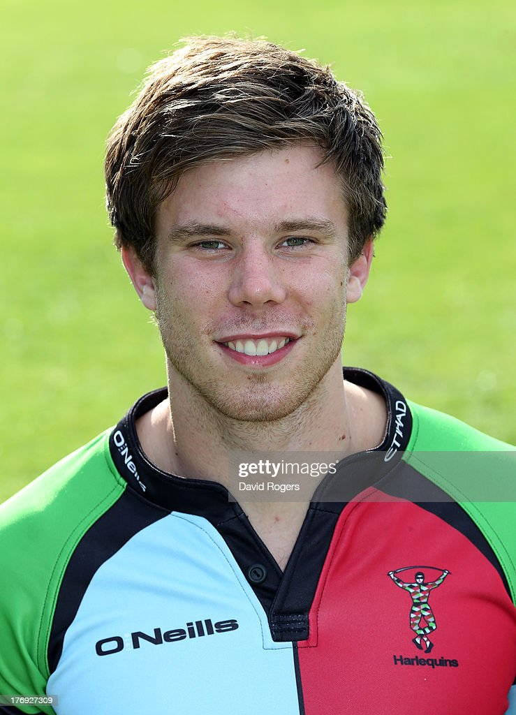 Sam Smith of Harlequins poses for a portrait at the Surrey Sports Park on August 19, 2013 in Guildford, England.