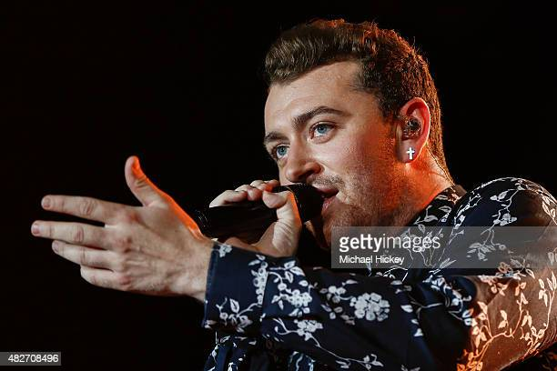 Sam Smith performs at 2015 Lollapalooza at Grant Park on August 1 2015 in Chicago Illinois