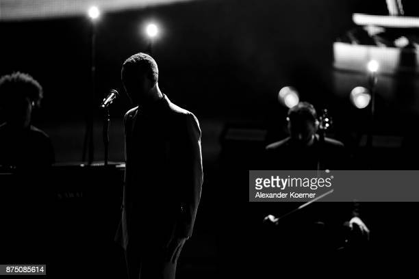 Sam Smith performs during the Bambi Awards 2017 show at Stage Theater on November 16 2017 in Berlin Germany