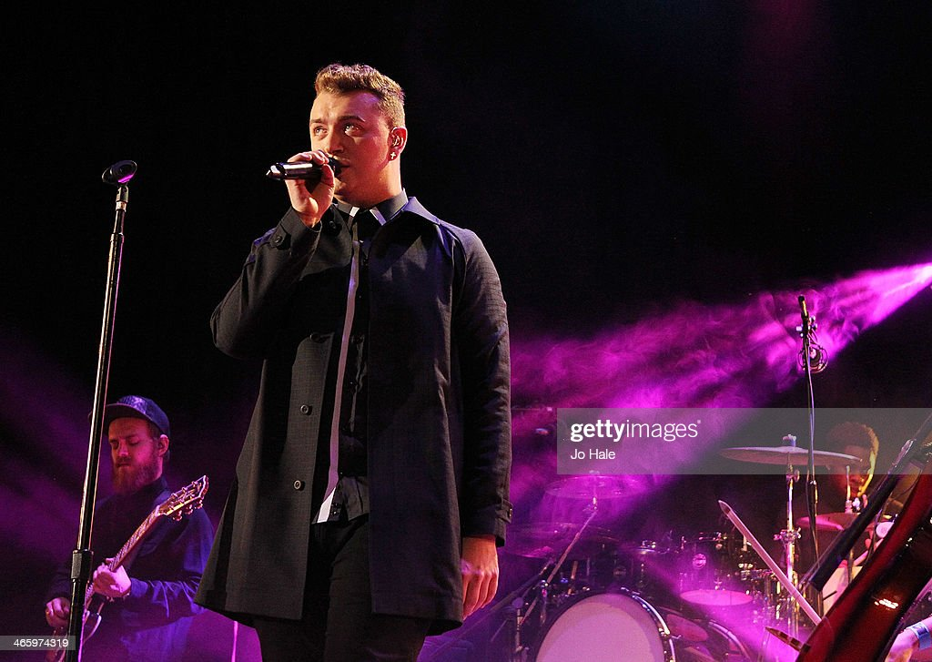 Sam Smith performs on stage for MTV Brand New For 2014 Showcase at Islington Assembly Hall on January 30, 2014 in London, United Kingdom.