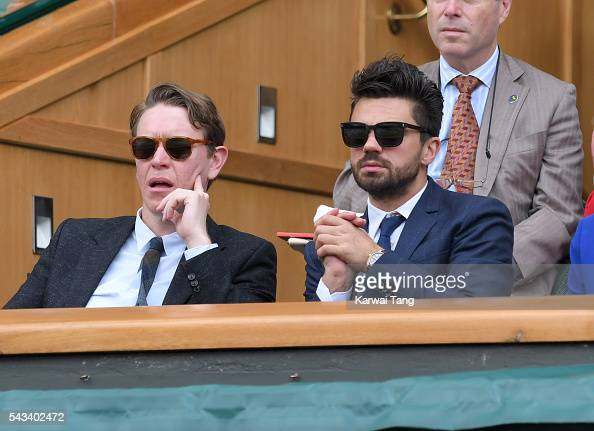 Sam Spruell and Dominic Cooper attend day two of the Wimbledon Tennis Championships at Wimbledon on June 28 2016 in London England