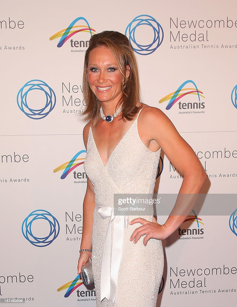 Sam Stosur arrives ahead of the 2012 John Newcombe Medal at Crown Palladium on December 3, 2012 in Melbourne, Australia.