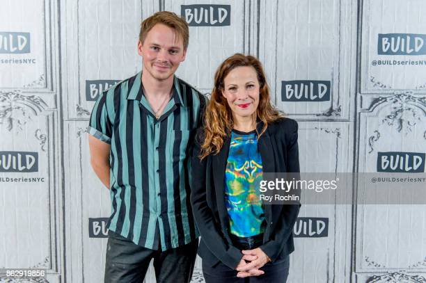 Sam Strike and Lili Taylor discuss 'Leatherface' with the Build Series at Build Studio on October 18 2017 in New York City