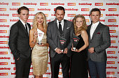 Sam Strike Maddy Hill Danny Dyer Kellie Bright and Danny Boy Hatchard with their awards as they attend the Inside Soap Awards at Dstrkt on October 1...