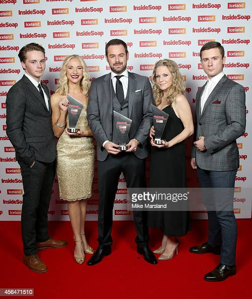 Sam Strike Maddy Hill Danny Dyer Kellie Bright and DannyBoy Hatchard attend the Inside Soap Awards at Dstrkt on October 1 2014 in London England