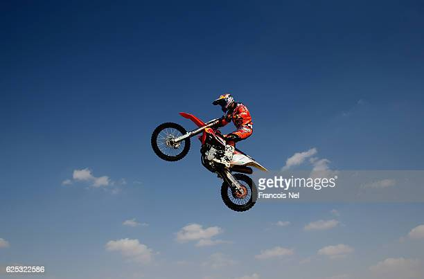 Sam Sunderland Red Bull Motorcycle Rally Rider in action during the Red Bull Racing Sunset Sands on November 23 2016 in Abu Dhabi United Arab Emirates