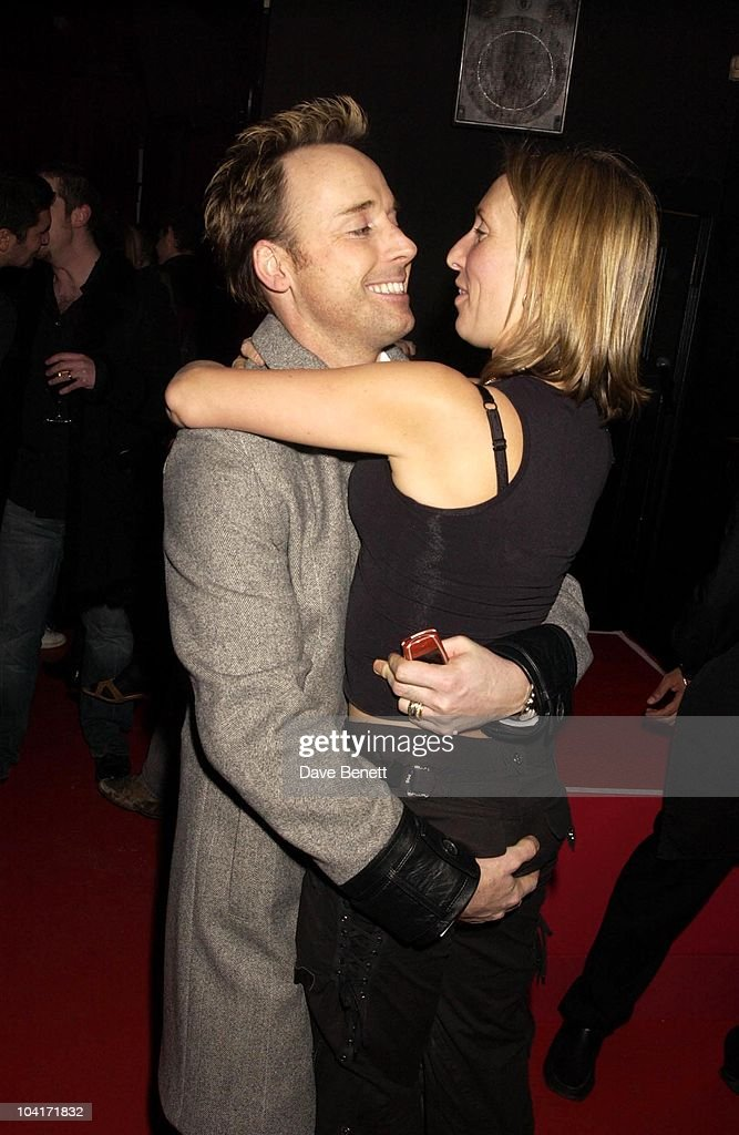 Sam Taylor, Wood Hugs David Furnish, Pet Shop Boys Party At Infinity, Where Artist Sam Taylor, Wood Performed For The First Time Partnered By Russian Ballet Dancer Ivan Prutrov And Watched By Friends