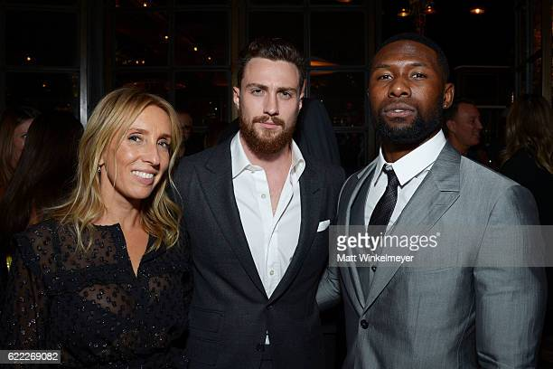Sam TaylorJohnson Aaron TaylorJohnson and Trevante Rhodes attend the Hollywood Foreign Press Association and InStyle celebrate the 2017 Golden Globe...