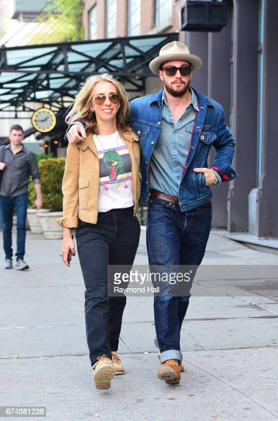 Sam TaylorJohnson and Aaron TaylorJohnson are seen on April 28 2017 in New York City