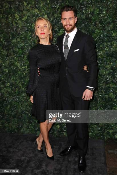 Sam TaylorJohnson and Aaron TaylorJohnson attend a preBAFTA party hosted by Charles Finch and Chanel at Annabel's on February 11 2017 in London...