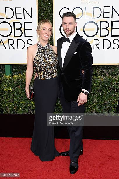 Sam TaylorJohnson and Aaron TaylorJohnson attend the 74th Annual Golden Globe Awards at The Beverly Hilton Hotel on January 8 2017 in Beverly Hills...