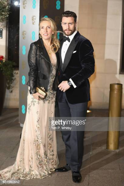 Sam TaylorJohnson and Aaron TaylorJohnson attend the official after party for the 70th EE British Academy Film Awards at The Grosvenor House Hotel on...