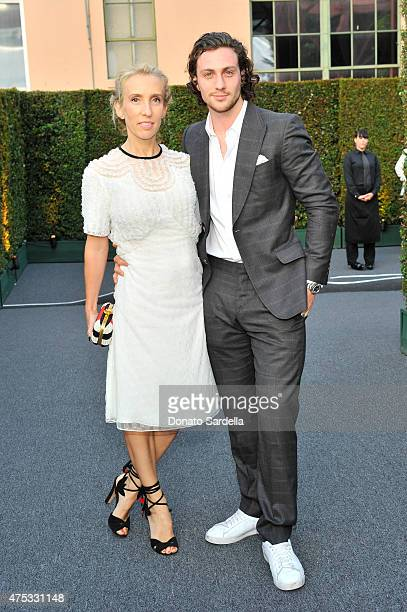 Sam TaylorJohnson and actor Aaron TaylorJohnson attend the 2015 MOCA Gala presented by Louis Vuitton at The Geffen Contemporary at MOCA on May 30...