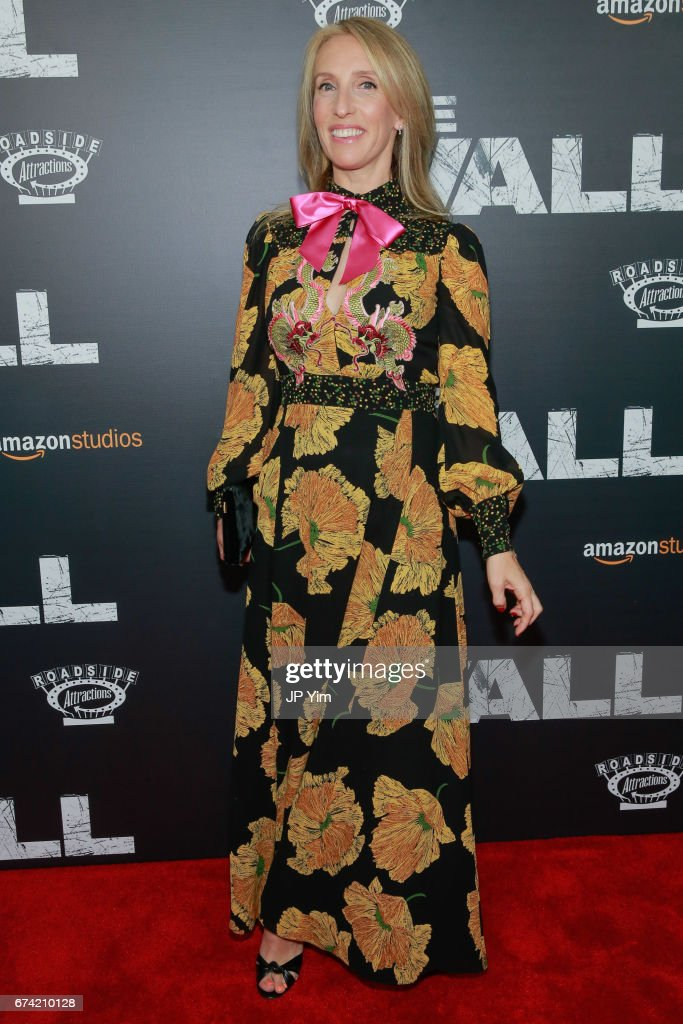 Sam Taylor-Johnson attends the premiere of 'The Wall' at Regal Union Square Theatre, Stadium 14 on April 27, 2017 in New York City.