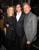 Sam TaylorWood Aaron Johnson and Patrick Cox attend the After party for the London Premiere of 'Nowhere Boy' hosted by Quintessentially at The House...