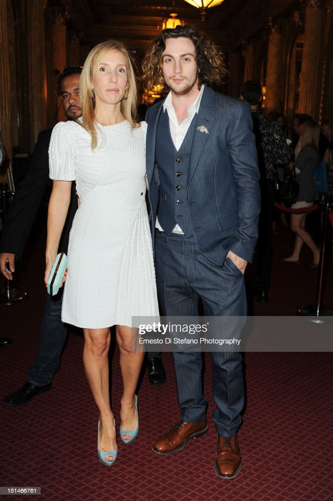 <a gi-track='captionPersonalityLinkClicked' href=/galleries/search?phrase=Sam+Taylor-Wood&family=editorial&specificpeople=206600 ng-click='$event.stopPropagation()'>Sam Taylor-Wood</a> and Aaron Taylor-Johnson attends the 'Anna Karenina' premiere during the 2012 Toronto International Film Festival at The Elgin on September 7, 2012 in Toronto, Canada.