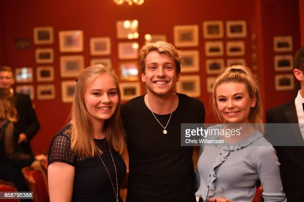 Sam Thompson and Georgia Toffolo from 'Made in Chelsea' take part in the 'This House Would Rather Be On Reality TV' debate at The Cambridge Union on...