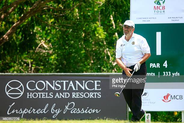 Sam Torrance of Scotland in action during the first round of the MCB Tour Championship played at the Legend Course Constance Belle Mare Plage on...