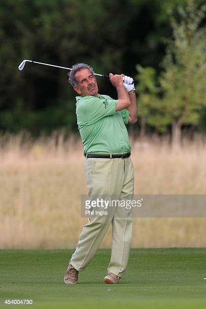 Sam Torrance of Scotland in action during the second round of the English Senior Open played at Rockliffe Hall on August 23 2014 in Durham United...