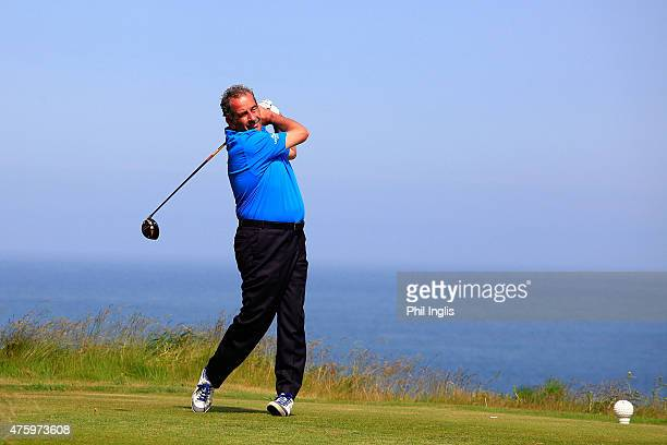 Sam Torrance of Scotland in action during the second round of the Acorn Jersey Open played at La Moye Golf Club on June 5 2015 in St Helier Jersey