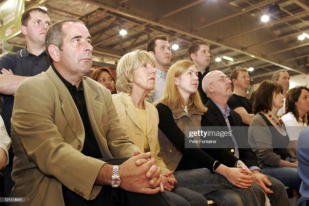 <a gi-track='captionPersonalityLinkClicked' href=/galleries/search?phrase=Sam+Torrance&family=editorial&specificpeople=204630 ng-click='$event.stopPropagation()'>Sam Torrance</a> watches the fashion show during 2005 London Golf Show at the ExCel Centre. April 23, 2005
