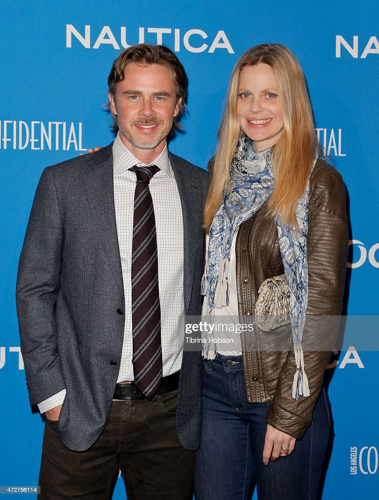 Sam Trammell and Kristin Bauer van Straten attend the 3rd annual Nautica Oceana beach house party at Marion Davies Guest House on May 8, 2015 in Santa Monica, California.