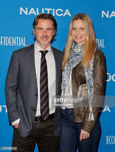 Sam Trammell and Kristin Bauer van Straten attend the 3rd annual Nautica Oceana beach house party at Marion Davies Guest House on May 8 2015 in Santa...