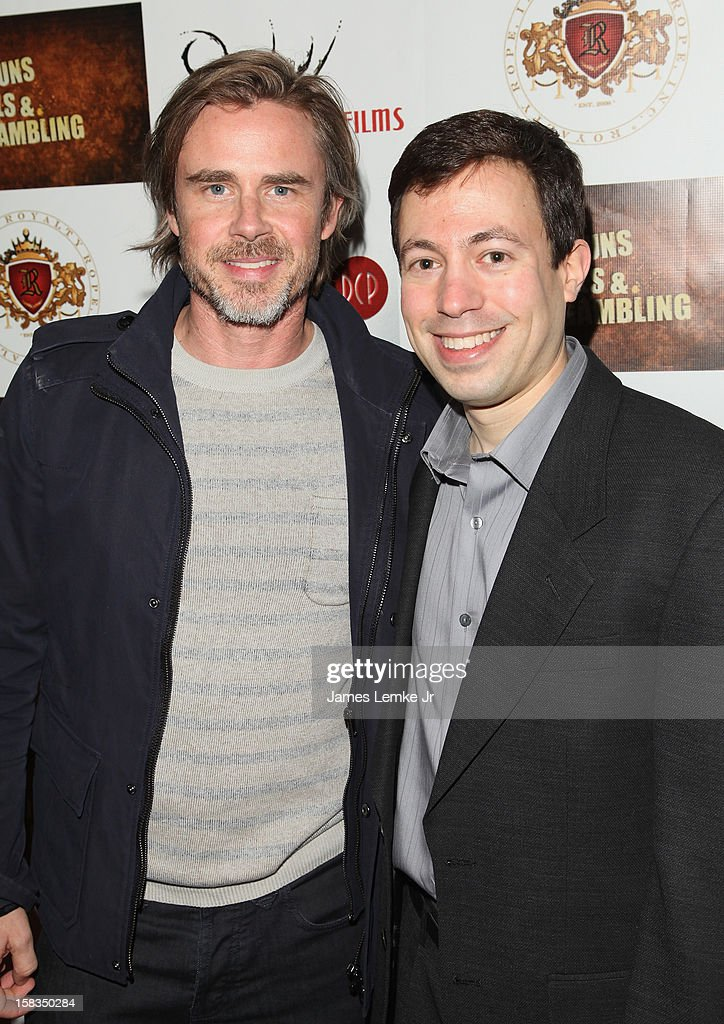 <a gi-track='captionPersonalityLinkClicked' href=/galleries/search?phrase=Sam+Trammell&family=editorial&specificpeople=3205930 ng-click='$event.stopPropagation()'>Sam Trammell</a> and Michael Winnick attend the Los Angeles Screening 'Guns, Girls & Gambling' held at the Laemlle NoHo 7 on December 13, 2012 in North Hollywood, California.