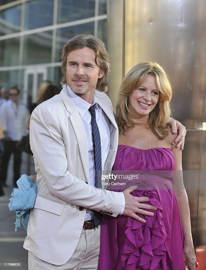 Sam Trammell and Missy Yager arrives for the premiere of HBO's 'True Blood' held at the Arclight Cinerama Dome on June 21, 2011 in Los Angeles, California.