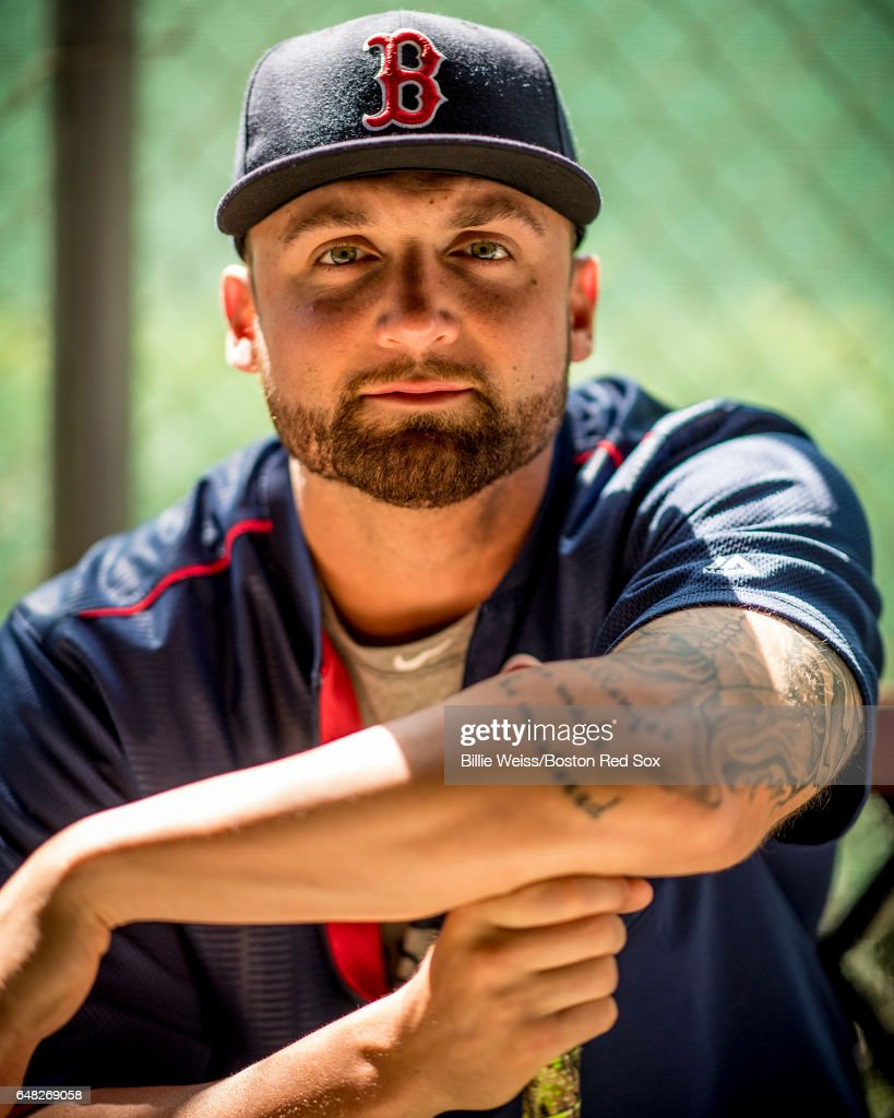 Sam Travis #59 of the Boston Red Sox poses for a portrait before a Spring Training game against the Atlanta Braves on March 5, 2017 at Fenway South in Fort Myers, Florida .