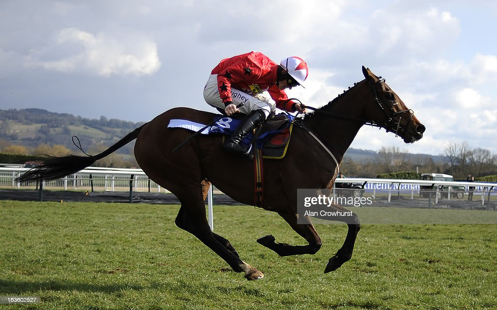 Sam Twiston Davies riding The New One win The Neptune Investment Management Novices' Hurdle Race during Ladies Day at Cheltenham racecourse on March 13, 2013 in Cheltenham, England.
