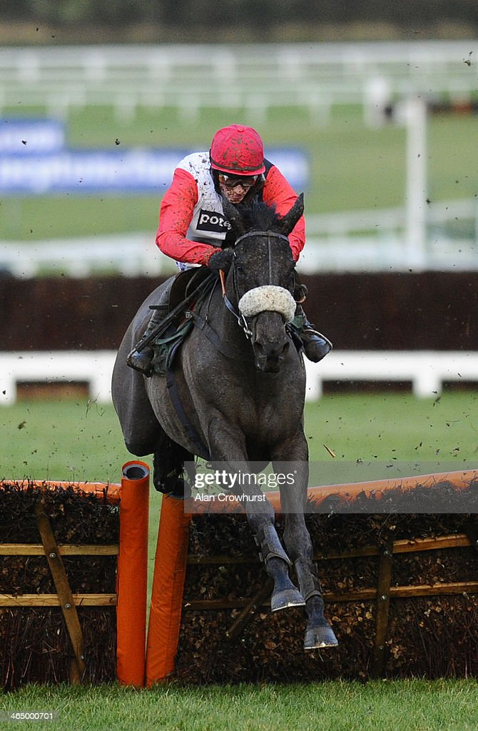 Sam Twiston-Davies riding Big Bucks in action at Cheltenham racecourse on January 25, 2014 in Cheltenham, England.