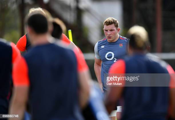 Sam Underhill of England looks on during a training session at Club Universitario on June 16 2017 in Santa Fe Santa Fe