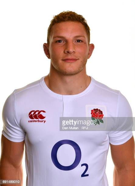 Sam Underhill of England poses for a portrait during the Argentina Tour Squad photo call at Twickenham Stadium on June 2 2017 in London England