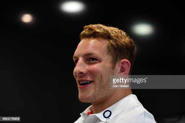Sam Underhill of England speaks to the media during an England Media Access at The Lensbury on May 30 2017 in Teddington England